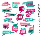 set of sale and best choice... | Shutterstock .eps vector #275654393