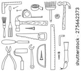 do it yourself tools black on... | Shutterstock .eps vector #275662373