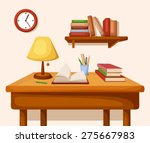 vector room interior with table ... | Shutterstock .eps vector #275667983