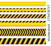 yellow with black police line... | Shutterstock .eps vector #275678717