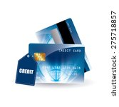 credit card design  vector... | Shutterstock .eps vector #275718857