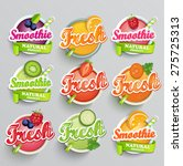 Set Sticers Smoothie With...