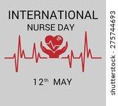 international nurse day concept ... | Shutterstock .eps vector #275744693