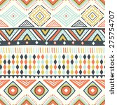 vector colorful ethnic pattern  ... | Shutterstock .eps vector #275754707