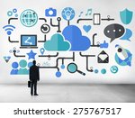 social media social networking... | Shutterstock . vector #275767517