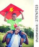 african family happiness... | Shutterstock . vector #275767523