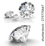 diamond set  high resolution 3d ... | Shutterstock . vector #275770667