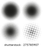 set of abstract halftone design ...