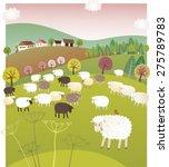 spring sheep | Shutterstock .eps vector #275789783