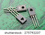 Closeup Detail Of Transistors...