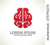 brain logo template design on... | Shutterstock .eps vector #275792273