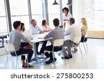 businesswoman presenting to... | Shutterstock . vector #275800253
