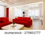 modern living room interior... | Shutterstock . vector #275801777