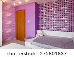 modern blue children bedroom... | Shutterstock . vector #275801837
