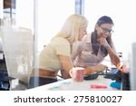 women working together  office... | Shutterstock . vector #275810027
