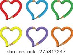 heart shapes | Shutterstock .eps vector #275812247