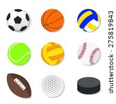 set of flat design sport balls... | Shutterstock .eps vector #275819843