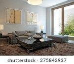 living room scandinavian style. ...   Shutterstock . vector #275842937