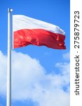 Polish Flag On A Background Of...