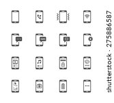 phone icons | Shutterstock .eps vector #275886587