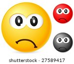 emoticon isolated on white... | Shutterstock .eps vector #27589417