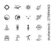 space icons | Shutterstock .eps vector #275896463