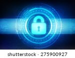 safety concept  closed padlock... | Shutterstock . vector #275900927
