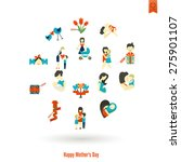 happy mothers day simple flat... | Shutterstock .eps vector #275901107