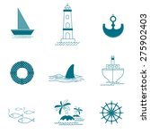 nautical icon set for art... | Shutterstock .eps vector #275902403