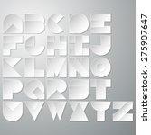 vector illustration of a paper... | Shutterstock .eps vector #275907647
