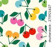 cute cherry seamless pattern... | Shutterstock .eps vector #275921627