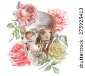 illustration with skull and... | Shutterstock .eps vector #275925413
