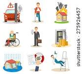 insurance and risk insured...   Shutterstock .eps vector #275926457