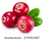 Cranberries Isolated On White...