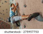 free climber young woman... | Shutterstock . vector #275957753
