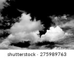black and white fluffy clouds... | Shutterstock . vector #275989763