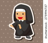 pastor and nun   cartoon... | Shutterstock . vector #275994737