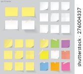 set of memo  vector | Shutterstock .eps vector #276004337