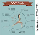 yoga benefits in flat design... | Shutterstock .eps vector #276006773