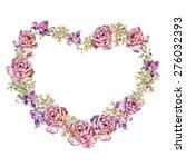 watercolor floral illustration... | Shutterstock . vector #276032393