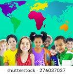 global globalization world map... | Shutterstock . vector #276037037