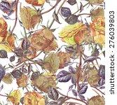 roses seamless pattern. | Shutterstock . vector #276039803