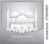 vector 3d mosque muslim paper...   Shutterstock .eps vector #276044837