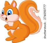 cartoon adorable squirrel | Shutterstock .eps vector #276050777