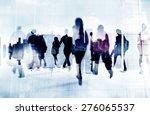 commuter business people... | Shutterstock . vector #276065537