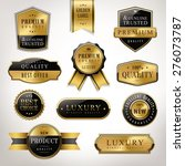 luxury premium quality golden... | Shutterstock .eps vector #276073787