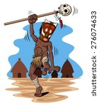 Illustration Of Dancing Shaman...