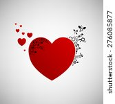 red hearts. vector illustration ... | Shutterstock .eps vector #276085877