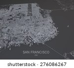 san francisco  usa  satellite...   Shutterstock . vector #276086267