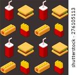 seamless pattern of stylish... | Shutterstock .eps vector #276105113